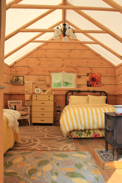 a luxury tent for glamping