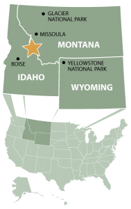 map of glacier and yellowstone area