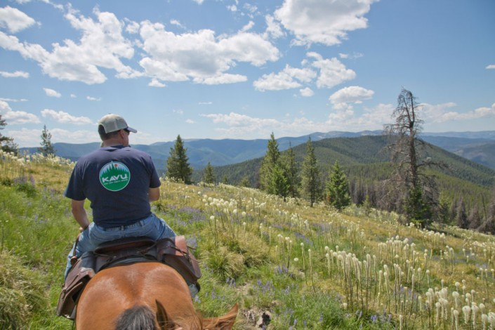 man on horseback ride in the selway wilderness