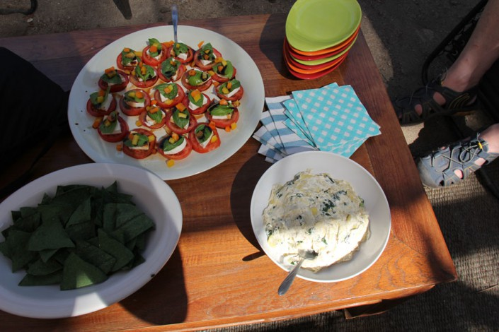gourmet appetizers served for glamping
