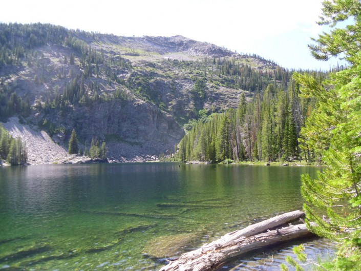 mountain lake in bitterroot selway wilderness