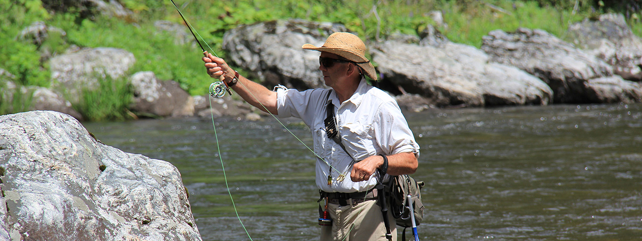 fly fishing on the selway river in idaho wilderness